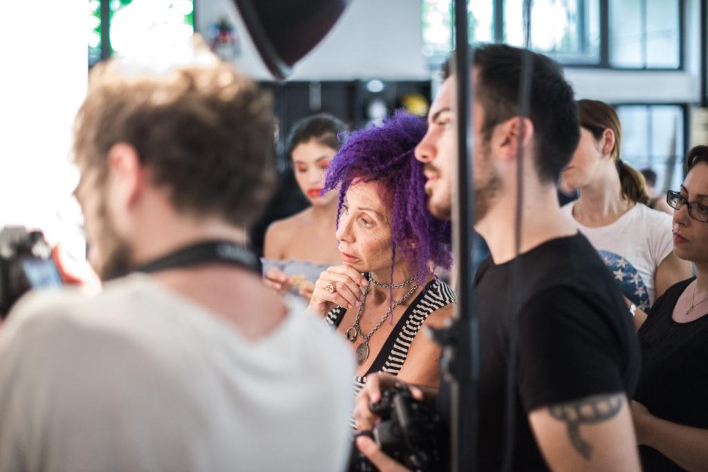 backstage fashion editorial