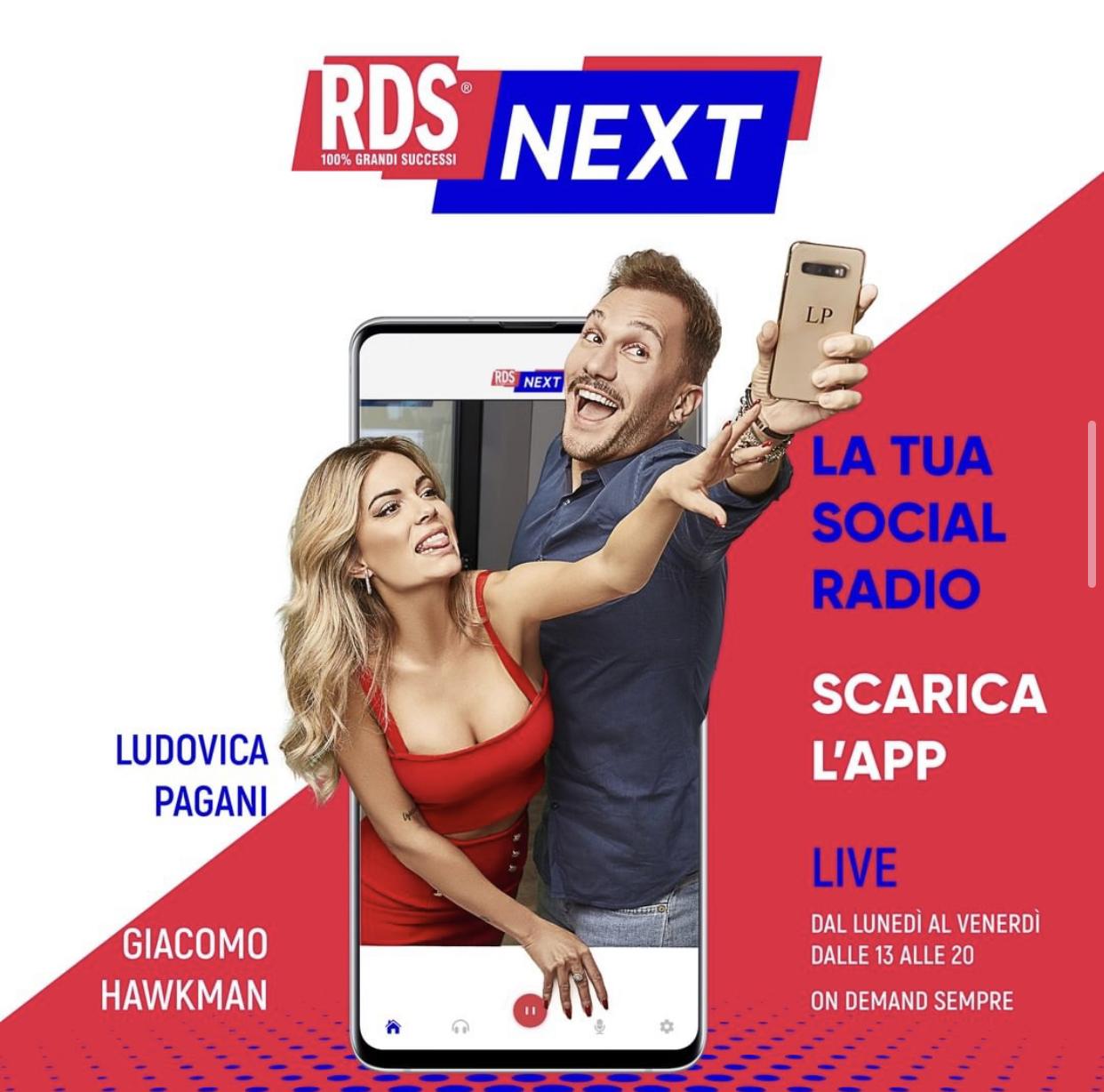RDS NEXT - LUDOVICA PAGANI GIACOMO HAWKMAN